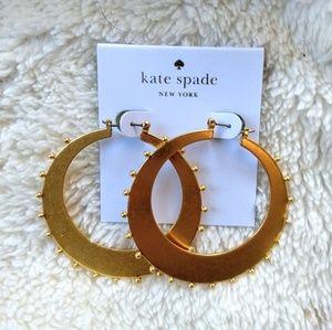 NWT Kate Spade Gold Hoop Earrings